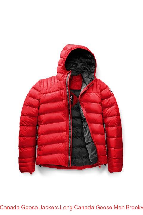 Canada Goose Jackets Long Canada Goose Men Brookvale Hoody Red Black