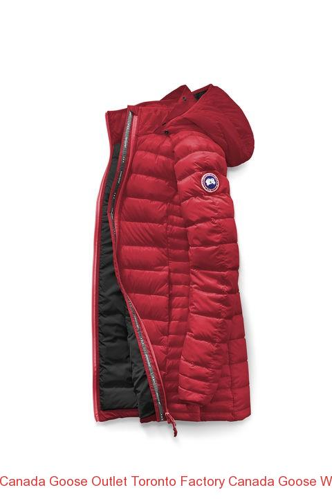 Canada Goose Outlet Toronto Factory Canada Goose Women Brookvale Hooded Coat Red Black