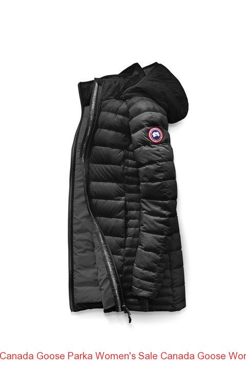 Canada Goose Parka Women's Sale Canada Goose Women Brookvale Hooded Coat Black Graphite
