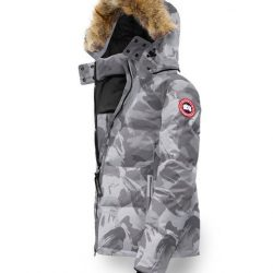 Canada Goose Vest Outlet Canada Goose Women Chelsea Parka Grey Brush Camo